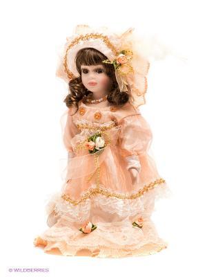 Кукла фарфоровая Дина Lisa Jane. Цвет: бледно-розовый, светло-оранжевый