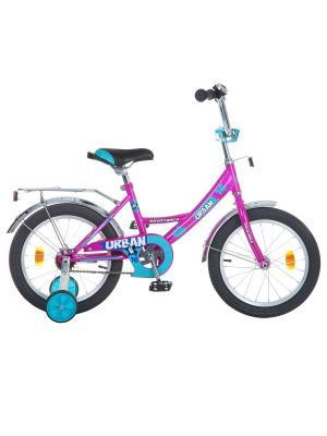 Велосипед 16 URBAN NOVATRACK. Цвет: бордовый