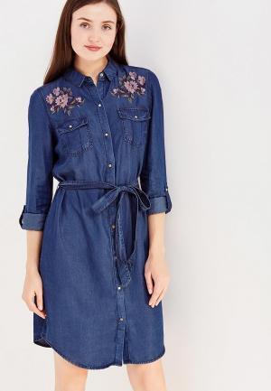 Платье джинсовое Cortefiel. Цвет: синий