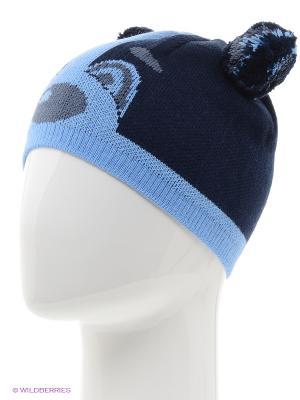 Шапка FOMAS. Цвет: голубой, черный