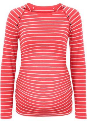 Мода для беременных/кормящих мам: футболка на кнопках (темно-синий/серый меланж в пол) bonprix. Цвет: темно-синий/серый меланж в пол