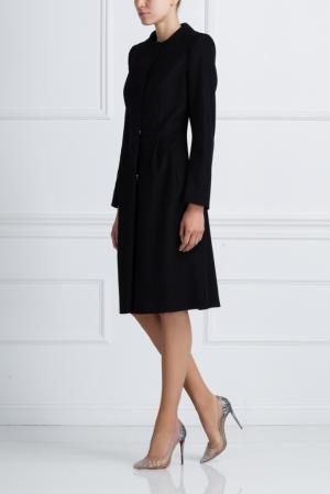 Шерстяное пальто NATALIA GART. Цвет: черный