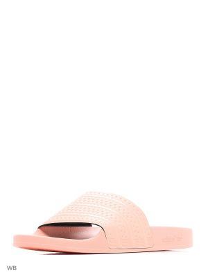 Шлепанцы ADILETTE HAZCOR/HAZCOR/HAZCOR Adidas. Цвет: персиковый