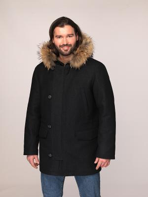 Укороченное пальто Paxton. Цвет: темно-серый