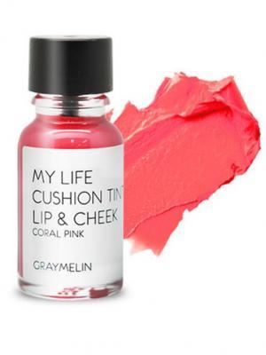 Тинт для губ и щек, coral pink Graymelin. Цвет: светло-коралловый