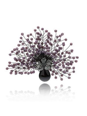 Брошь Икебана (фиолетовая) Honey Jewelry. Цвет: фиолетовый