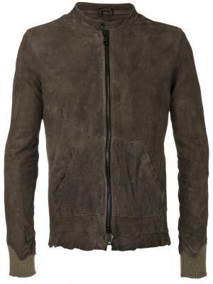 Панельная куртка с декоративными швами Giorgio Brato. Цвет: серый