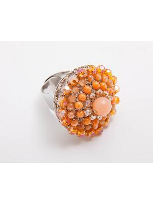 Кольцо Kameo-bis. Цвет: бежевый, оранжевый