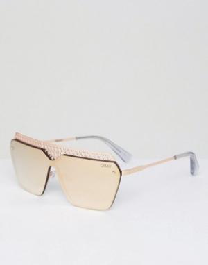 Quay Australia Солнцезащитные очки Hall of Fame. Цвет: золотой