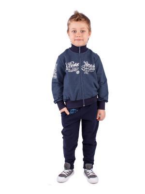 Комплект одежды Апрель. Цвет: синий, темно-синий