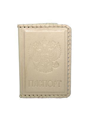Обложка для паспорта Кажан. Цвет: бежевый