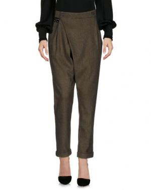Повседневные брюки YPNO. Цвет: зеленый-милитари