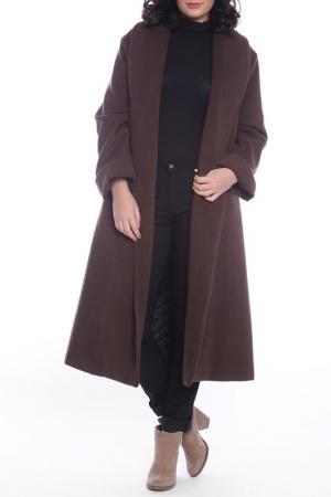 Coat Moda di Chiara. Цвет: brown