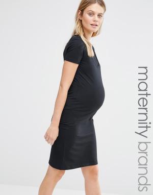 Mama.licious Облегающее платье для беременных Mamalicious. Цвет: черный