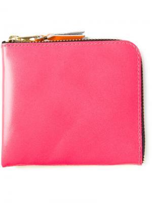Двухцветный кошелёк на молнии Comme Des Garçons Wallet. Цвет: розовый и фиолетовый