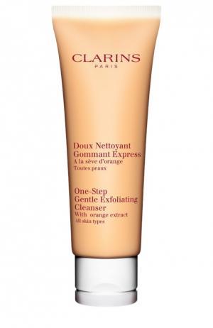 Очищающий пенистый крем с отшелушивающим эффектом Clarins. Цвет: бесцветный