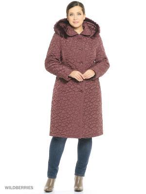 Утепленное пальто MONTSERRAT. Цвет: бордовый