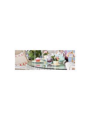 Чаепитие у Глории DECORETTO. Цвет: голубой, розовый, белый