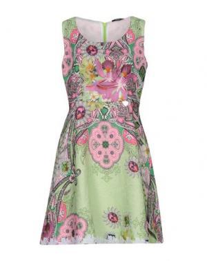 Короткое платье NAUGHTY DOG. Цвет: светло-зеленый