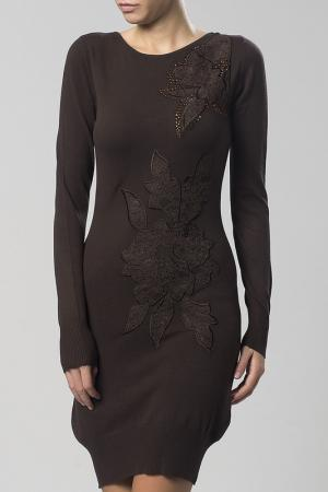 Платье Sassofono. Цвет: коричневый