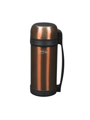 Термос THERMOcafe by Thermos Lucky Vacuum Food Jar with Screw Stopper.2.0L. Цвет: коричневый