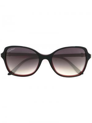 Солнцезащитные очки Double C Decor Cartier. Цвет: чёрный