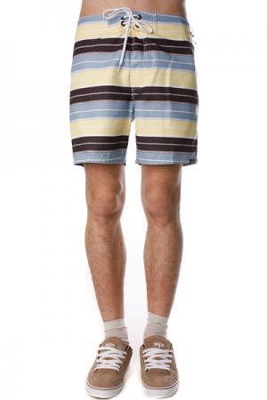 Пляжные мужские шорты  Pescadero 17 Boardie Ltye Ezekiel. Цвет: желтый,черный