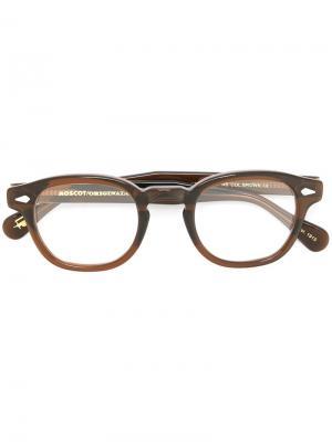 Очки Lemtosh 46 Moscot. Цвет: коричневый
