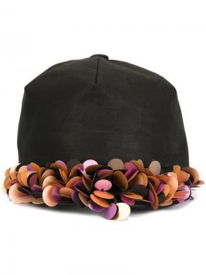 Декорированная кепка Super Duper Hats. Цвет: чёрный