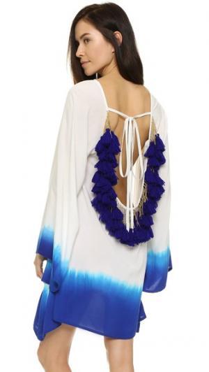 Короткое пляжное платье Indiana с эффектом «омбре» SUNDRESS. Цвет: белый
