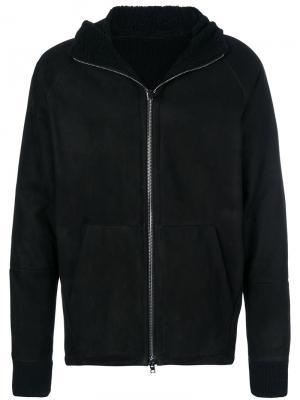 Пальто на молнии с капюшоном Salvatore Santoro. Цвет: чёрный