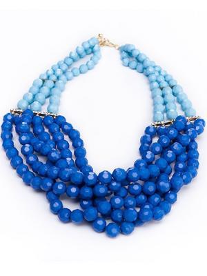 Колье IVORI. Цвет: голубой