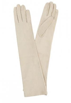 Перчатки SERMONETA. Цвет: бежевый