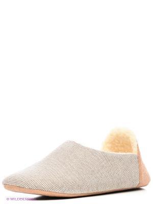 Тапочки Burlesco. Цвет: коричневый