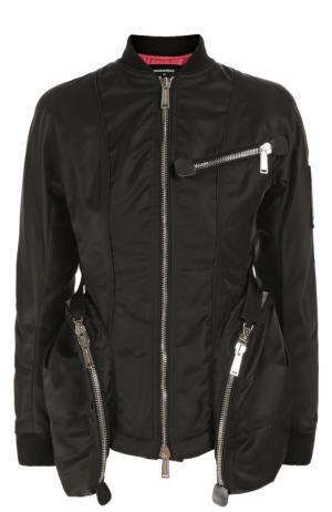 Бомбер с большими накладными карманами и контрастной подкладкой Dsquared2. Цвет: черный