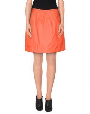 Юбка до колена NIU'. Цвет: оранжевый