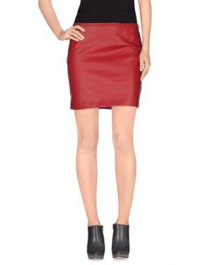 Мини-юбка DANIELA FARGION. Цвет: красно-коричневый