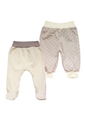 Набор одежды: штанишки, ползунки КОТМАРКОТ. Цвет: бежевый
