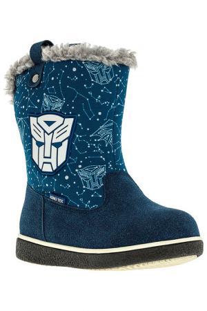 Сапожки Transformers. Цвет: синий