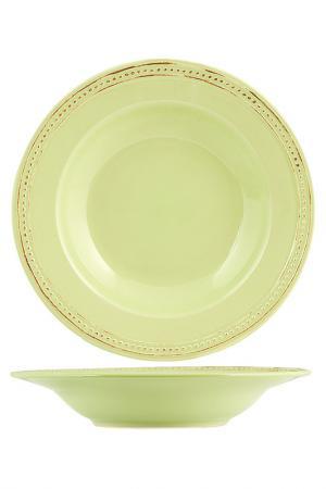 Тарелки суповые 23 см 6 шт. H&H. Цвет: салатовый