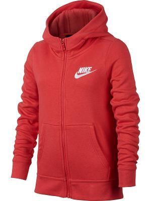Толстовка G NSW HOODIE FZ CLUB GFX Nike. Цвет: красный