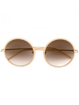 Круглые солнцезащитные очки BC0045S Boucheron. Цвет: металлический