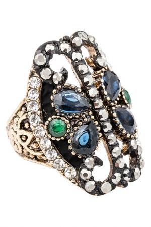 Кольцо Boho Chic. Цвет: синий, зеленый, белый