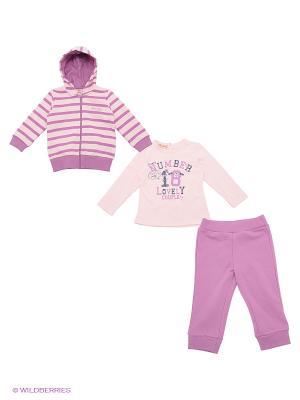 Комплект Brums. Цвет: бледно-розовый, сиреневый, фиолетовый