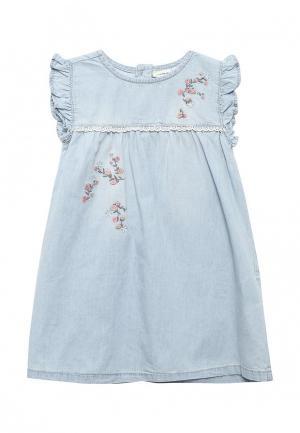 Платье джинсовое Name It. Цвет: голубой