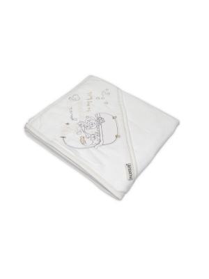 Банное полотенце с уголком Bebitof Baby. Цвет: бежевый