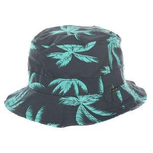 Панама  Union Bucket Hat Palms Globe. Цвет: синий,голубой