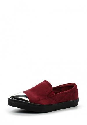Слипоны Max Shoes. Цвет: бордовый