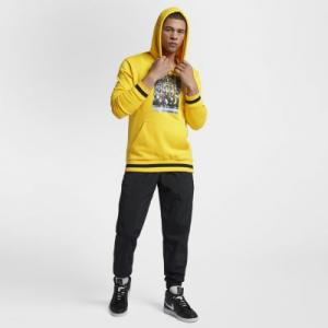 Мужская худи Jordan Sportswear Last Shot Wings Lite Nike. Цвет: желтый