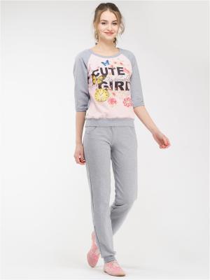 Костюм Style4you. Цвет: светло-серый,светло-желтый,розовый